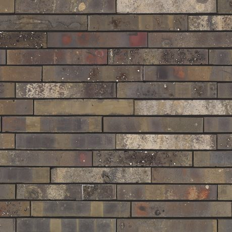 Packshot of a panel with Archipolis Onyx Zwart facing bricks