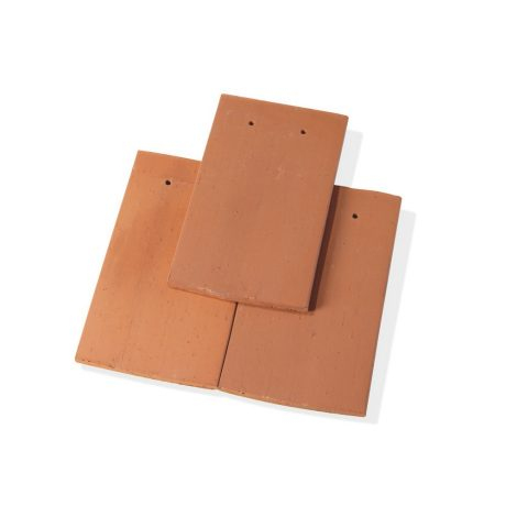 Single product shot of a Tegelpan Aleonard Pontigny Rouge Naturel roof tile