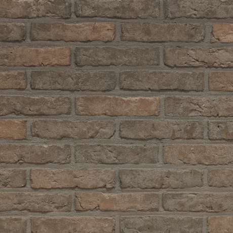 Agora Porfiergrijs facing bricks in a running bond with grey joint