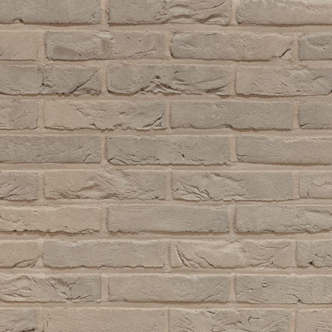 Agora Zijdegrijs facing bricks in a running bond with joint in the same colour as the product