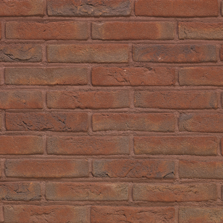 Packshot of a panel with Arces Ruby Rood facing bricks