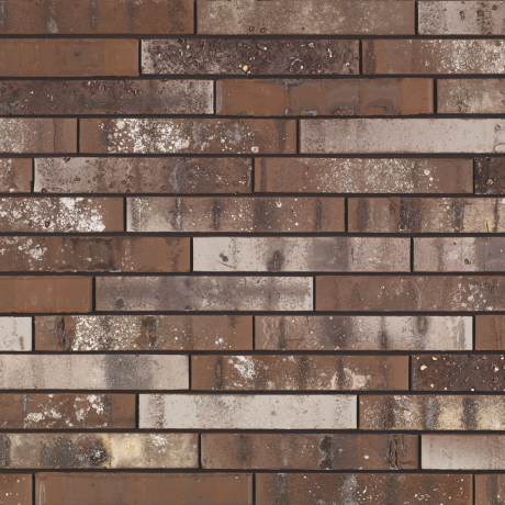 Packshot of a panel with Archipolis Barn Bruin facing bricks