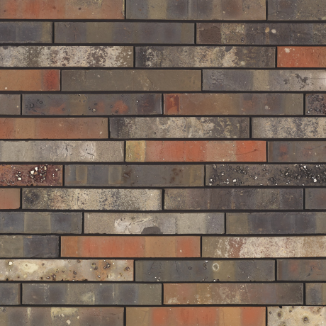 Packshot of a panel with Archipolis Cadet Zwart facing bricks