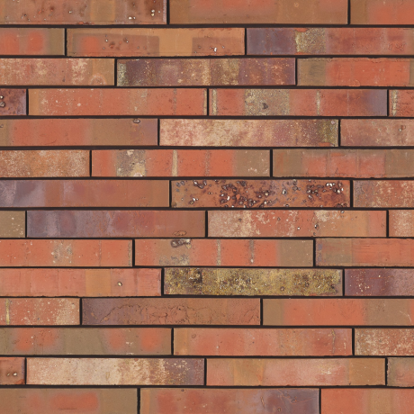 Packshot of a panel with Archipolis Volt Rood facing bricks