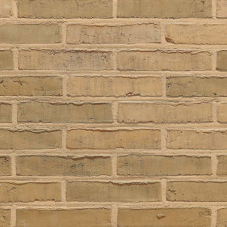 Aquaral Sable Geel facing bricks in a running bond with a mortar joint