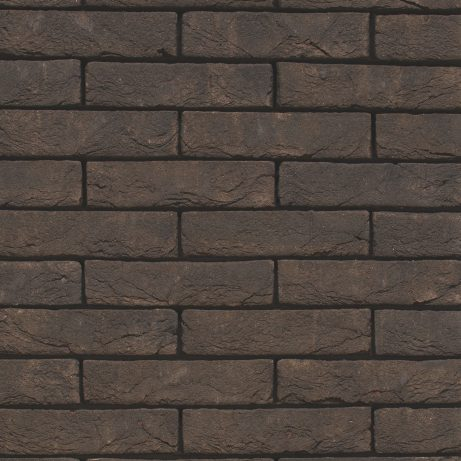 Packshot of a panel with Basia Nero Zwart Mangaan facing bricks