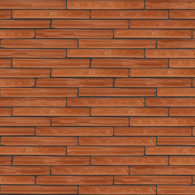 Packshot of a panel with Cassia Red facing bricks