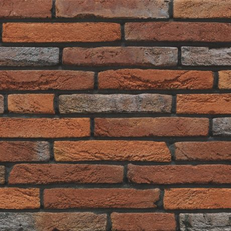 Linaqua Vino facing bricks in a wild bond with a glued application