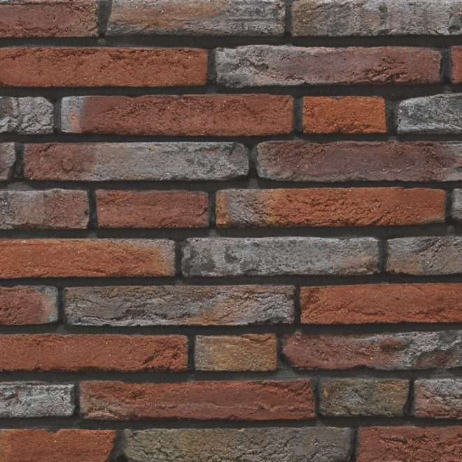 Linaqua Viola facing bricks in a wild bond with a glued application