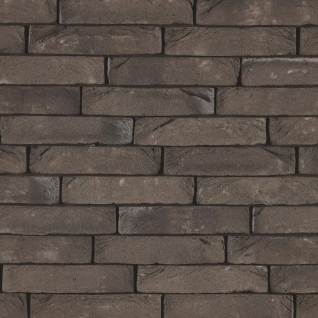Pagus Carbon Zwart facing bricks in a soft wild bond with Iluzo application