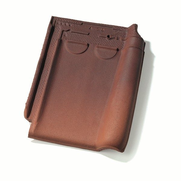 Single product shot of a Stormpan 44 Amarant roof tile