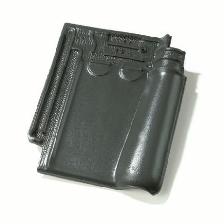 Single product shot of a Stormpan 993 Leikleur Mat Geglazuurd roof tile