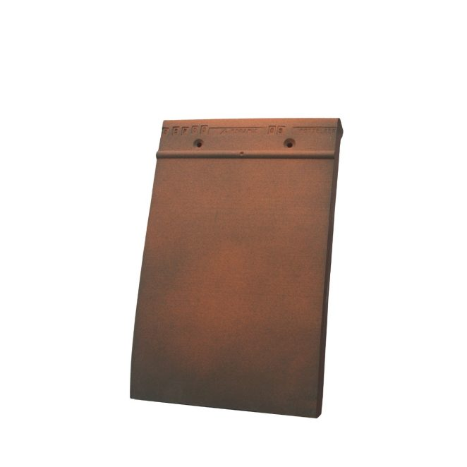 Single product shot of a Tegelpan 301 Rustiek roof tile