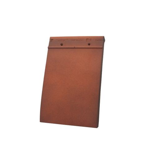 Single product shot of a Tegelpan 301 Amarant roof tile