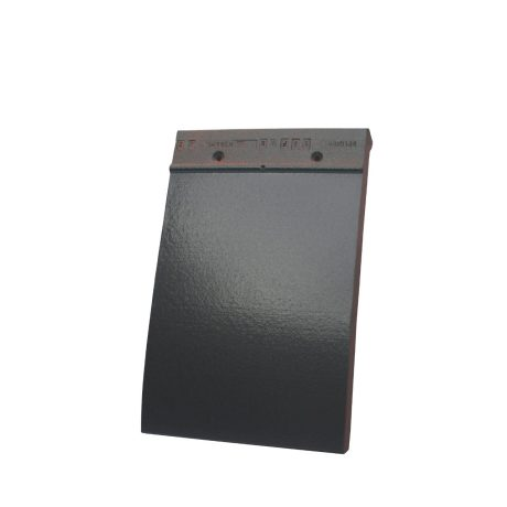 Single product shot of a Tegelpan 301 Antraciet roof tile