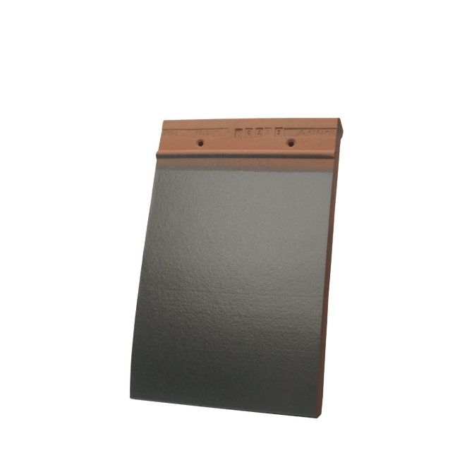 Single product shot of a Tegelpan 301 Leikleur Mat Geglazuurd roof tile