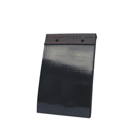Single product shot of a Tegelpan 301 Zwart Geglazuurd roof tile