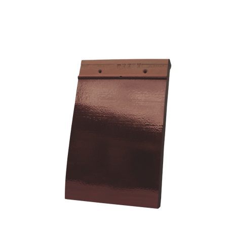 Single product shot of a Tegelpan 301 Wijnrood Geglazuurd roof tile