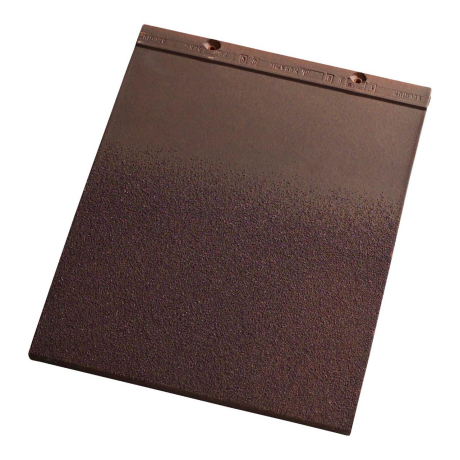 Single product shot of a Tegelpan Plato Oud Koper Bezand roof tile