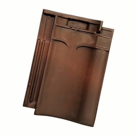 Single product shot of a VHV Rustiek roof tile