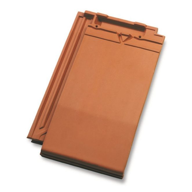 Single product shot of a Datura Natuurrood roof tile