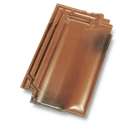 Single product shot of a Panne Havana Edel Engobe roof tile