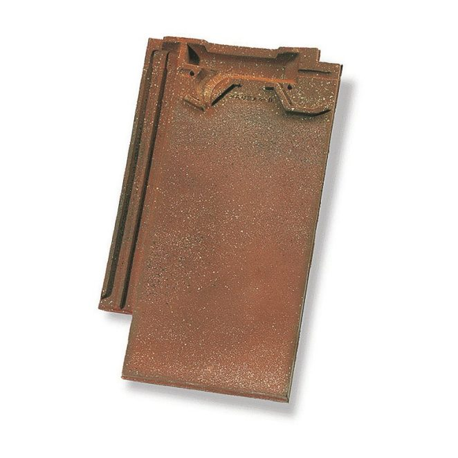 Single product shot of a Vauban Antiek Bourgogne roof tile