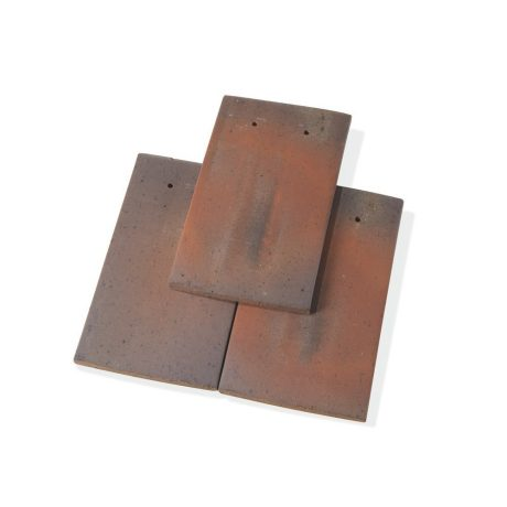 Single product shot of a Tegelpan Aleonard Pontigny Brun Flamme roof tile