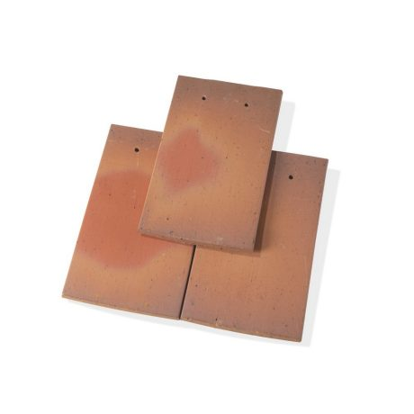 Single product shot of a Tegelpan Aleonard Pontigny Ocre Rose roof tile