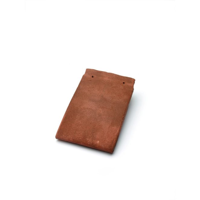 Single product shot of a Tegelpan Keymer Goxhill Autumn Brown roof tile