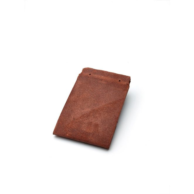 Single product shot of a Tegelpan Keymer Goxhill Dark Red roof tile