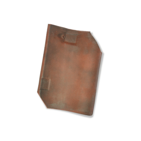 Single product shot of a Oude Pottelbergse Pan 451 Rustiek roof tile